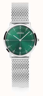 Michel Herbelin |女子城市|银色手链|绿色表盘| 16915/16B