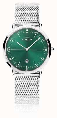 Michel Herbelin |男士/女士城市|银色手链|绿色表盘| 19515/16B