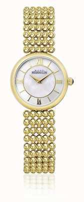 Michel Herbelin |女性perle |金色手链|珍珠贝母拨号| 17483/BP19