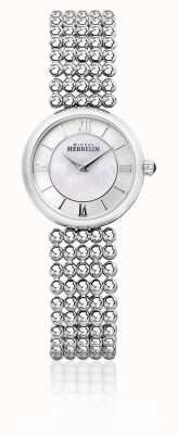 Michel Herbelin |女性perle |银手链|珍珠贝母拨号| 17483/B19