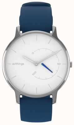 Withings 移动永恒的别致 - 白色,蓝色硅胶 HWA06M-TIMELESS CHIC-MODEL 2-RET-INT