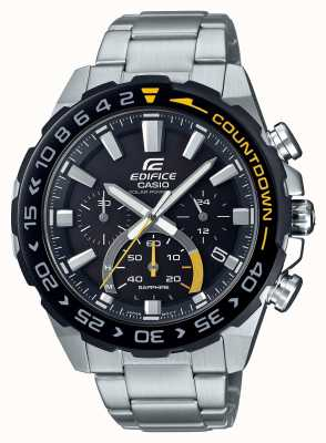 Casio |大厦太阳能|不锈钢手链|黑色表盘| EFS-S550DB-1AVUEF
