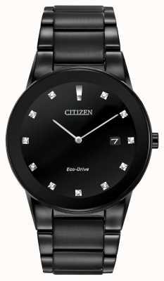 Citizen |男士公理生态驱动器|黑钻表盘|黑色手链 AU1065-58G