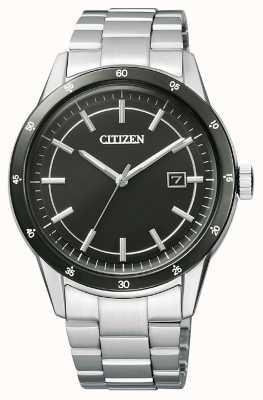 Citizen |男士环保驱动器|不锈钢手链|黑色表盘| AW1164-53E