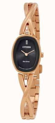 Citizen |妇女剪影生态驱动器|金色手链| EX1413-55E
