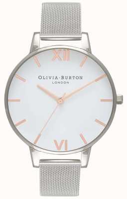 Olivia Burton |女装|白色表盘|银色网状手链| OB16BD97