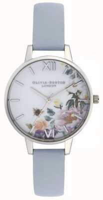 Olivia Burton |女装|魔法花园|粉笔蓝色皮革表带| OB16EG114