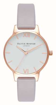 Olivia Burton |女士|灰色丁香表带|白色表盘| OB16MDW32