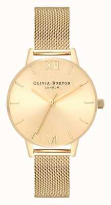 Olivia Burton |女士| sunray midi表盘金网手链| OB16MD85