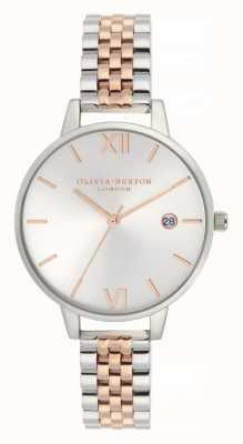 Olivia Burton |女士| demi日期|双色不锈钢手链| OB16DE06