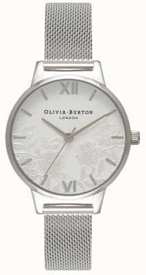 Olivia Burton |女士|蕾丝细节|不锈钢网手链| OB16MV54