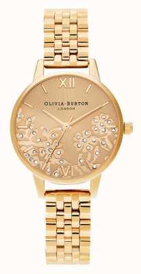 Olivia Burton  女士 宝石花边 金色手链  OB16MV105