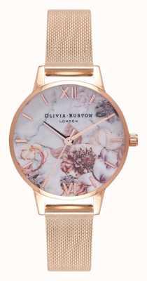 Olivia Burton |女士|大理石花香|玫瑰金网手链| OB16CS06