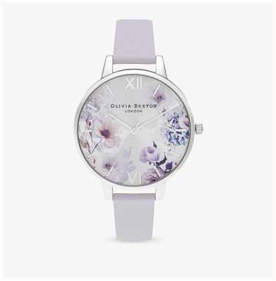 Olivia Burton |女士|阳光花香|帕尔玛紫罗兰色皮革表带| OB16EG137