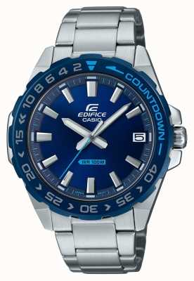 Casio |男士|大厦|经典|蓝色表盘|不锈钢| EFV-120DB-2AVUEF