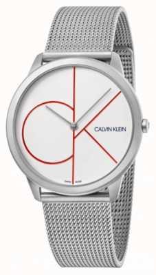 Calvin Klein 最小|银色手链|白色表盘| K3M51152