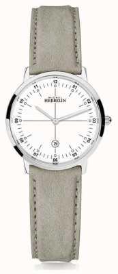 Michel Herbelin |城市石英|女士|米色皮革表带|白色表盘| 16915/12LKN