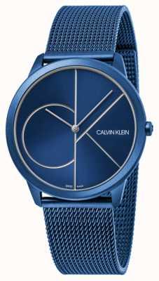 Calvin Klein |女士|最小|蓝色网带|蓝色表盘| K3M52T5N