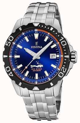 Festina |男士潜水员|不锈钢手链|蓝色表盘| F20461/1