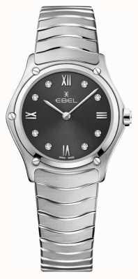 EBEL 女子运动经典|灰色表盘钻石套装|不锈 1216416A