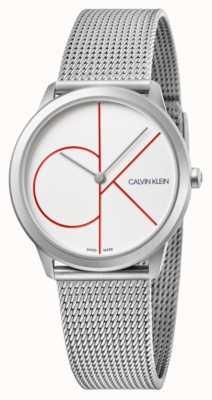Calvin Klein |最小|不锈钢网手链|银色表盘| K3M52152