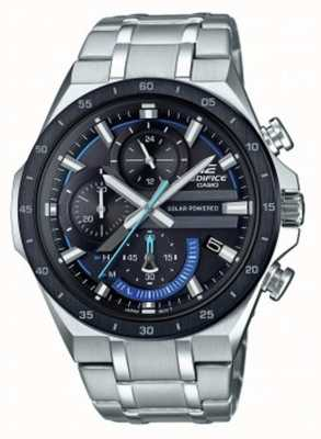 Casio |大厦|太阳能计时码表|黑色和蓝色表盘| EQS-920DB-1BVUEF