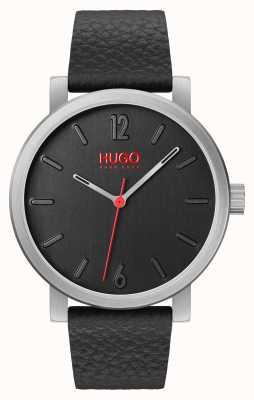 HUGO #rase |黑色皮革表带|黑色表盘 1530115