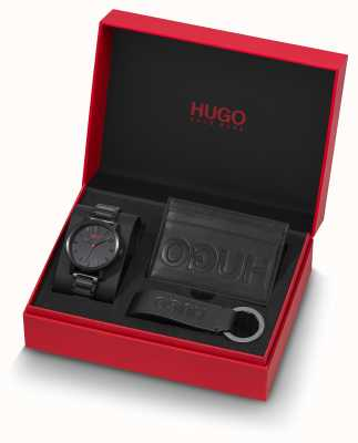 HUGO #rase | giftset |钥匙圈|持卡人|黑色ip手镯 1570096