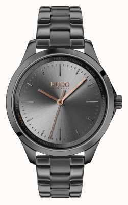 HUGO #fearless |灰色ip手链|灰色表盘 1540042