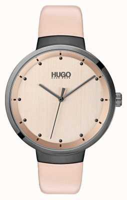 HUGO #go |粉色皮革表带|玫瑰金表盘 1540001