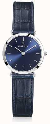 Michel Herbelin |女士| epsilon |蓝色皮革表带|蓝色表盘| 17106/15BL