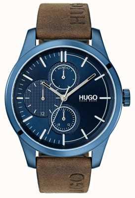HUGO #discover |棕色皮革表带|蓝色表盘 1530083