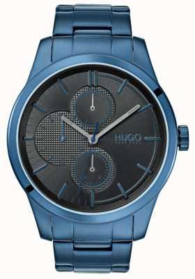 HUGO #discover |蓝色IP手链|黑色表盘| 1530086