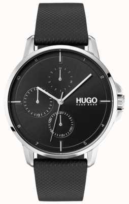 HUGO #focus |黑色皮革表带|黑色表盘 1530022