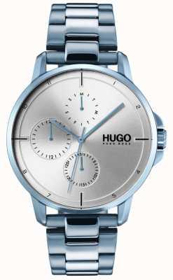 HUGO #focus |蓝色IP手链|银色表盘 1530051