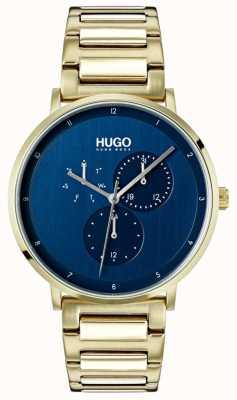 HUGO #guide | gold ip bracelet |蓝色表盘 1530011