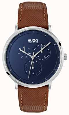 HUGO #guide |棕色皮革表带|蓝色表盘 1530032