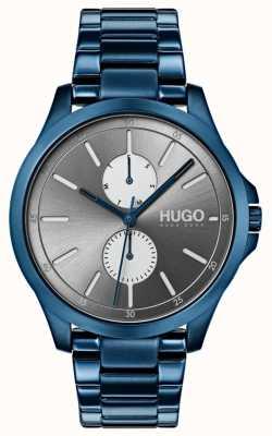 HUGO #jump |蓝色IP手链|灰色表盘 1530006