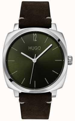 HUGO #own |黑色皮革表带|绿色表盘 1530068