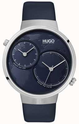 HUGO #travel |蓝色皮革表带|蓝色表盘 1530053