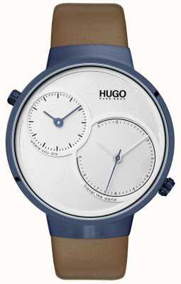 HUGO #travel |棕色皮革表带|白色表盘 1530054