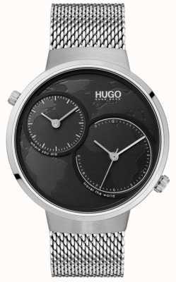 HUGO #travel |不锈钢网|黑色表盘 1530055