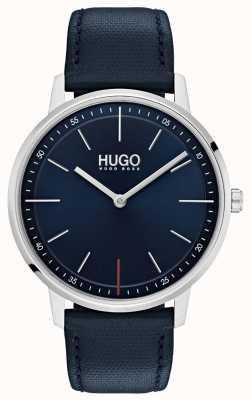 HUGO #exist |蓝色皮革表带|蓝色表盘 1520008