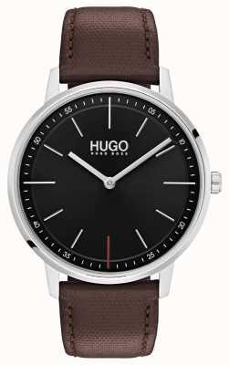 HUGO #exist |棕色皮革表带|黑色表盘 1520014