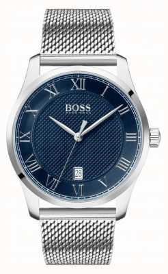 Boss |男士大师|不锈钢网手链|蓝色表盘| 1513737
