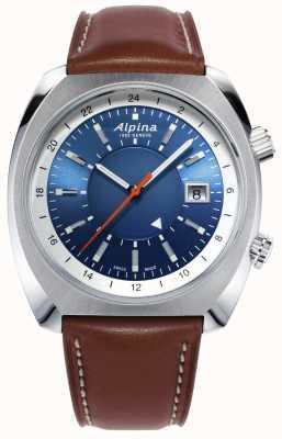 Alpina | startimer试点遗产|自动|棕色皮革| AL-555LNS4H6