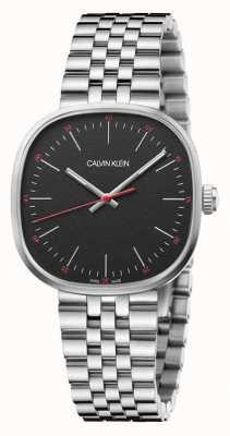 Calvin Klein  男士 直接 不锈钢手链 黑色表盘  K9Q12131