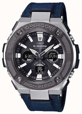 Casio | g-shock | g钢|蓝色cordura /皮革表带| GST-W330AC-2AER