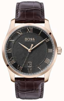 Boss |男士大师|棕色皮革表带|灰色表盘 1513740