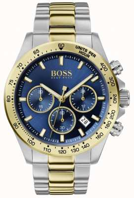 Boss |男子英雄运动勒克斯|双色手链|蓝色表盘| 1513767